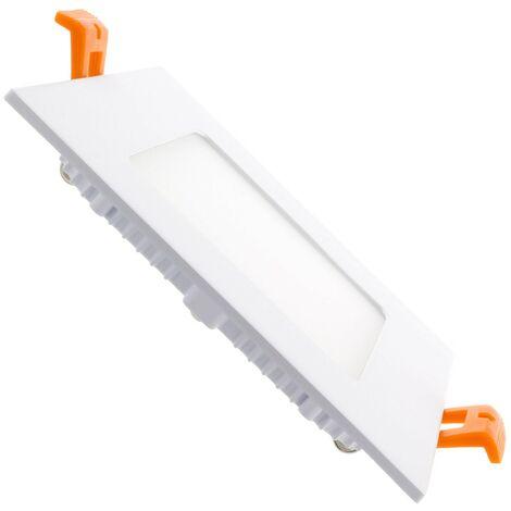 Placa LED Cuadrada SuperSlim 6W Corte 105x105mm