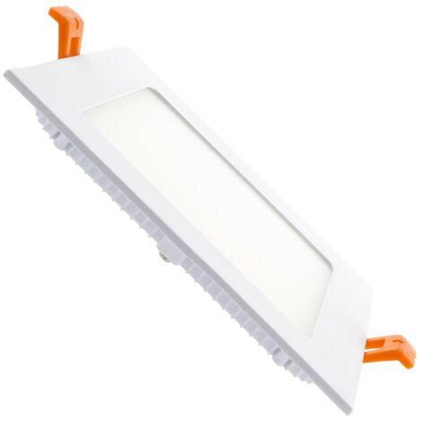 Placa LED Cuadrada SuperSlim 9W Corte 136x136 mm