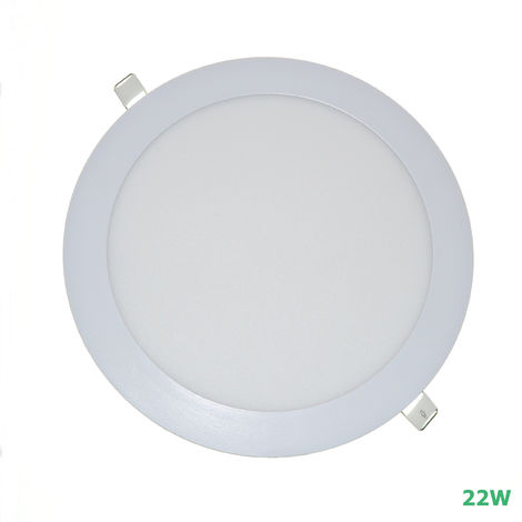 Placa led redonda 22w