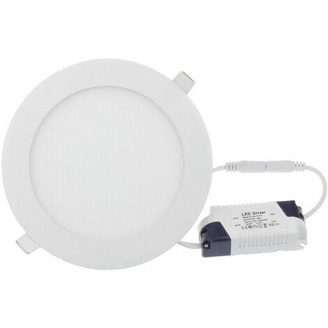 Placa LED redonda SuperSlim 24W blanco frio 6000K downlight led