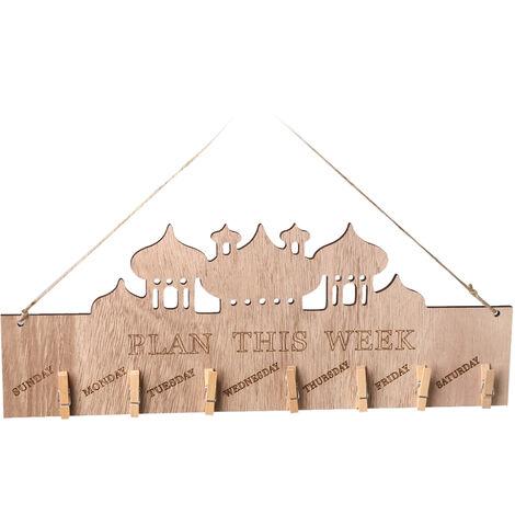 Placa mensaje suspendido de madera, accesorios de la decoracion para el hogar