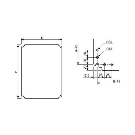 Placa mont poliester 500x400 SCHNEIDER ELECTRIC NSYMPP54