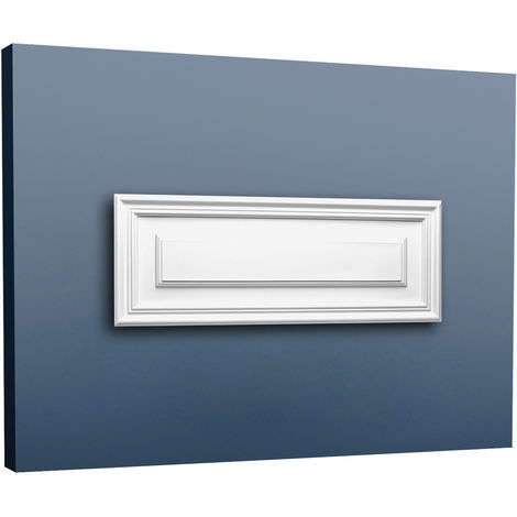 Placa para puerta aplanada Orac Decor D504 LUXXUS Panel para pared y puerta Elemento decorativo blanco