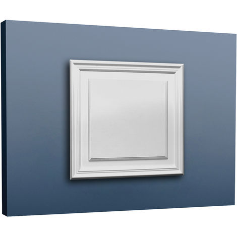 Placa para puerta aplanada Orac Decor D506 LUXXUS Panel para pared y puerta Elemento decorativo blanco
