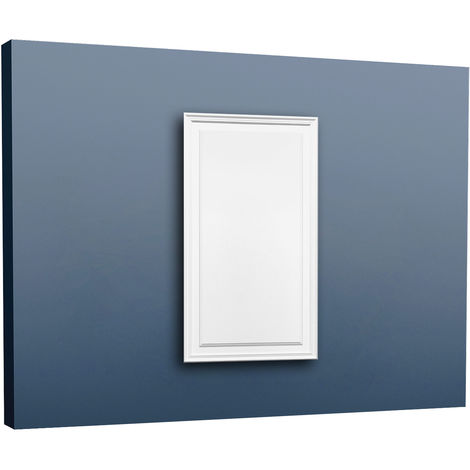 Placa para puerta aplanada Orac Decor D507 LUXXUS Panel para pared y puerta Elemento decorativo blanco