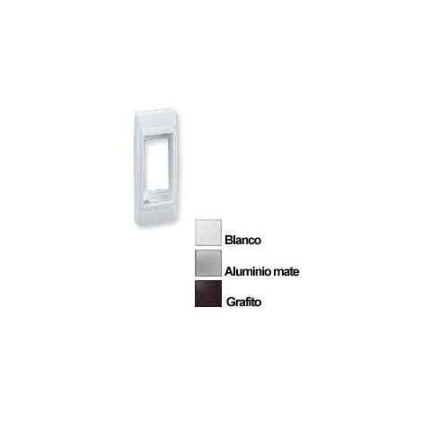 Placa Perfileria 1 Elemento Blanca Simon 82615-60