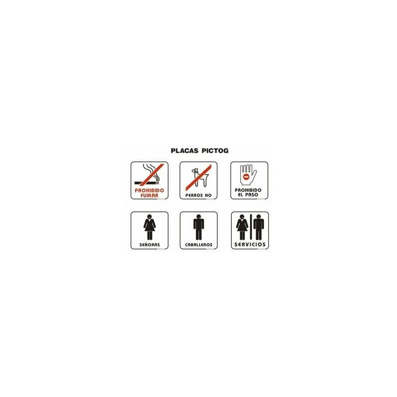 df1bdb6918cd Placa Señal Adhesiva 110X110Mm Señoras Poliestireno Blanco
