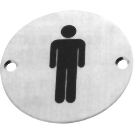 Placa Simbolo A.inox Display - AMIG - 21 MUJER - 75 MM