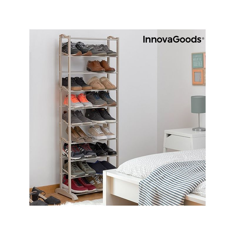 placard chaussures innovagoods 25 paires v0101113. Black Bedroom Furniture Sets. Home Design Ideas