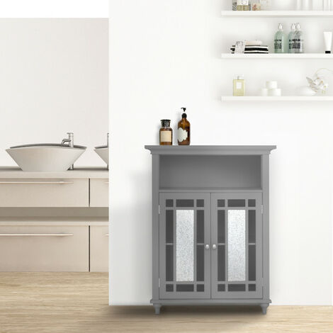 Placard de rangement meuble bas de salle de bain gris Windsor Elegant Home Fashions EHF-529G