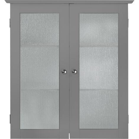 Placard mural de salle de bain armoire de rangement gris Connor Elegant Home Fashions EHF-581G