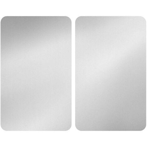Placas cobertoras de vidrio plata 2 uds Wenko