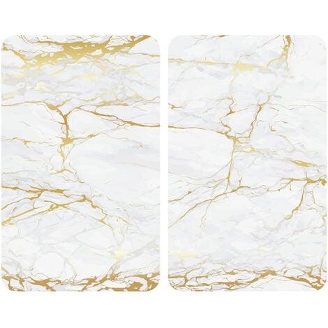 Placas cobertoras de vidrio universal Oro de mármol