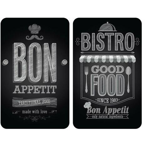 Placas cobertoras de vidrio universales Bon Appetit, 2 uds. Wenko