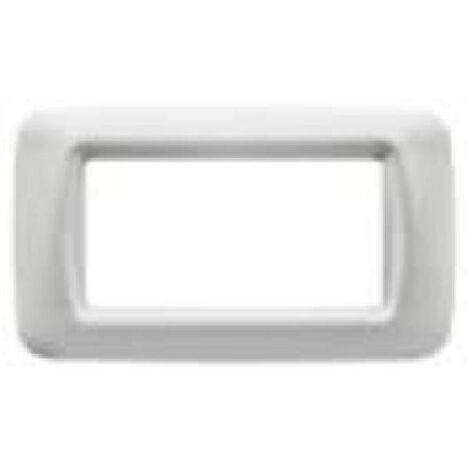 PLACCA 4 POSTI COLORE BIANCO NUVOLA TOP SYSTEM GW22504