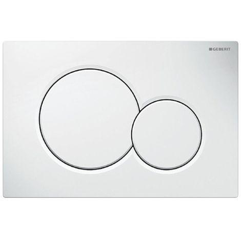 Placca di comando Geberit Sigma01 bianca per risciacquo a due quantità