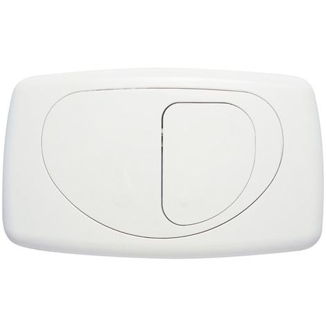 Placca di comando hidrobox dual evolution its todini 14.15 e bianco lucido