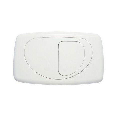 Placca di comando hidrobox dual evolution its todini 14.15E bianco lucido