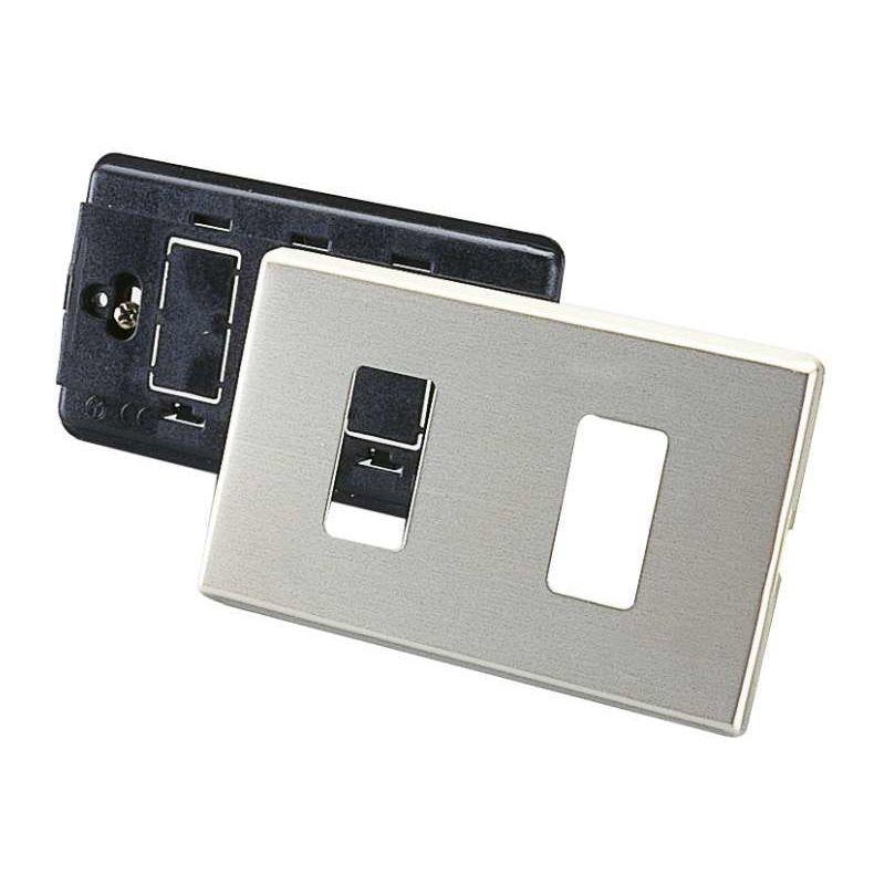 Image of Placca in alluminio a 2 fori - POLY POOL