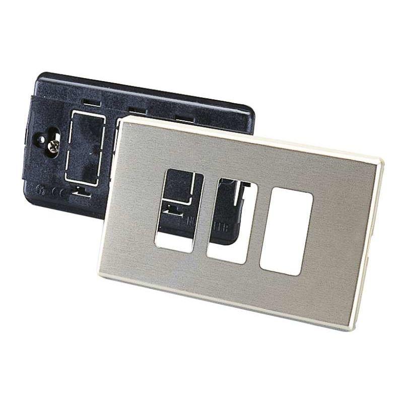 Image of Placca in alluminio a 3 fori - POLY POOL