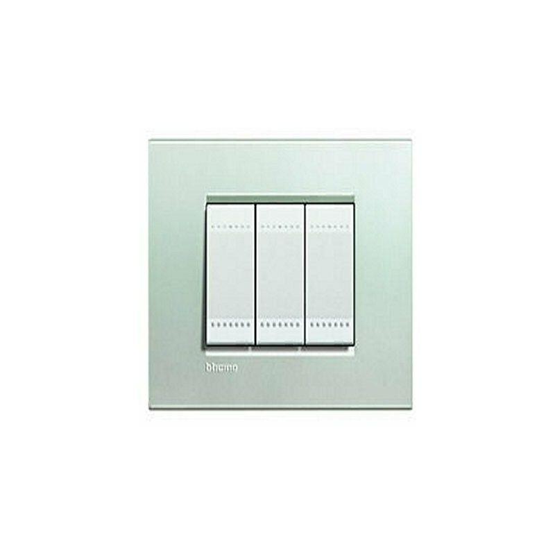 BTICINO LIVINGLIGHT placca quadra 7 moduli argento LNA4807AG