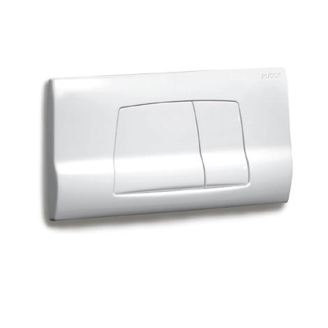 Placca scarico cassetta incasso eco bianca 80005710 pucci 5710