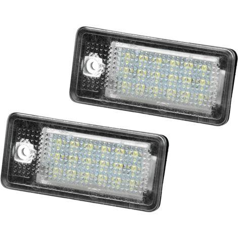 ECD Germany 2 x Luci Targa a LED di Registrazione 2X 18 LED Xenon Bianco Luce Posteriore Targa