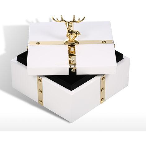 Place White Jewelry Box - Deer Small Size Storage Box
