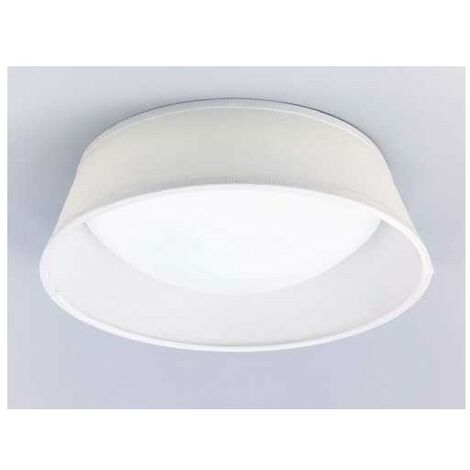 Plafon 2 luces SERIE NORDICA ACABADO White Shade