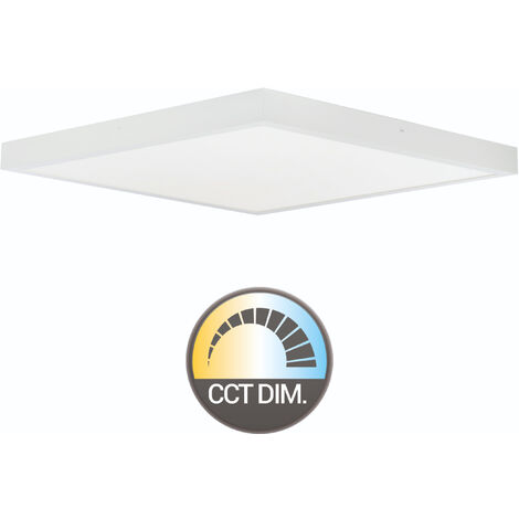 PLAFON 50X50 CUADRADO LED 45W REGULABLE COLOR/INTENSIDAD (MANDO)