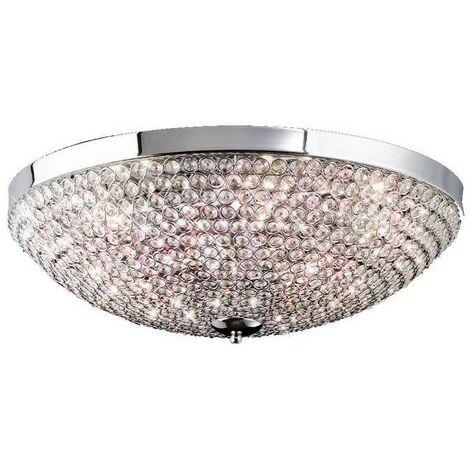 Plafon 9 Luces SERIE CRYSTAL LED G9 BALLS ACABADO Chrome