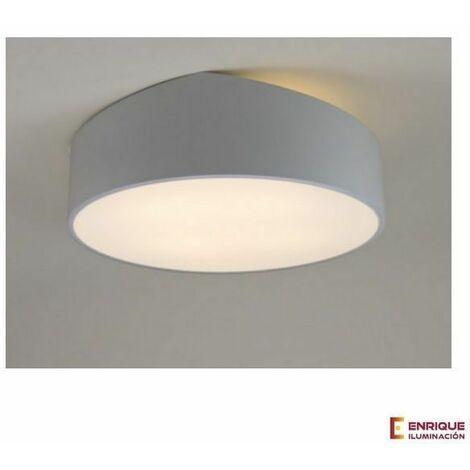 Plafón blanco asimétrico MINI redondo de Mantra | Plata 50cm