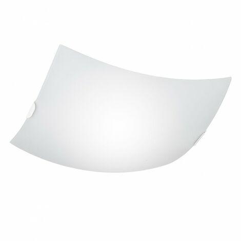 Plafon blanco cuadrado de 3 luces modelo NOMAD de ALEMAR