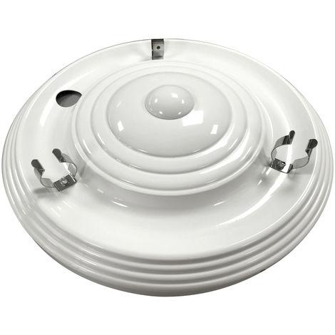 Plafón chapa blanco reactancia magnética 1 tubo 22W no incluido (Universal iluminacion 18100-22)
