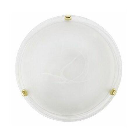 Plafon Circular E27 1X60W Cristal Blanco/Dorado Eglo