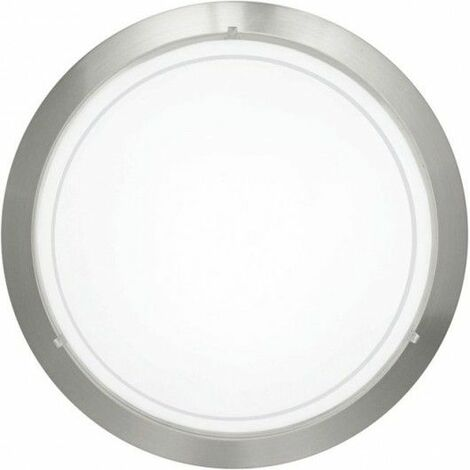 Plafon Circular E27 1X60W Cristal Blanco/Niquel Eglo