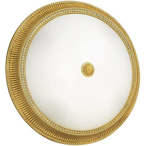 Plafón clásico MILORD Gold 24 Quilates 4 focos