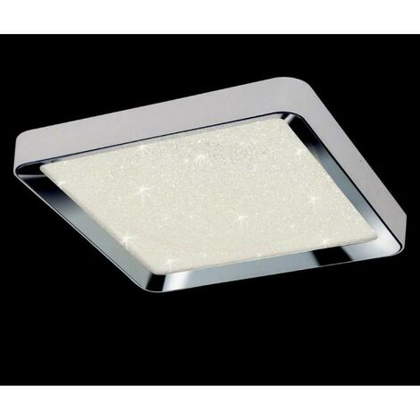 Plafon Cuadrado Grande led dimable MALE con cristal decorativo