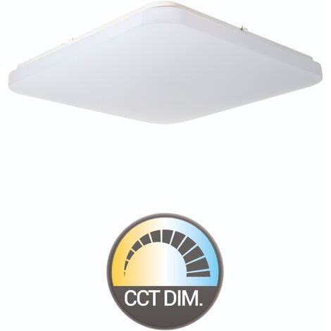 PLAFON CUADRADO LED 36W REGULABLE COLOR/INTENSIDAD (MANDO)