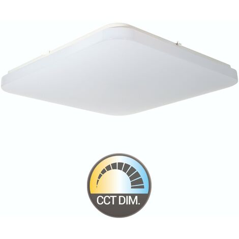 PLAFON CUADRADO LED 48W REGULABLE COLOR/INTENSIDAD (MANDO)
