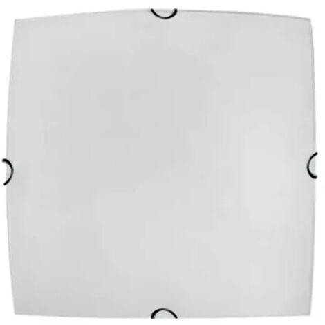 Plafon Cuadrado Serie Pluton 2xe27 Blanco 30x30