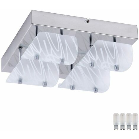 Plafón de cristal de la sala de estar que enciende el conjunto blanco de la lámpara del proyector incluyendo bombillas del LED