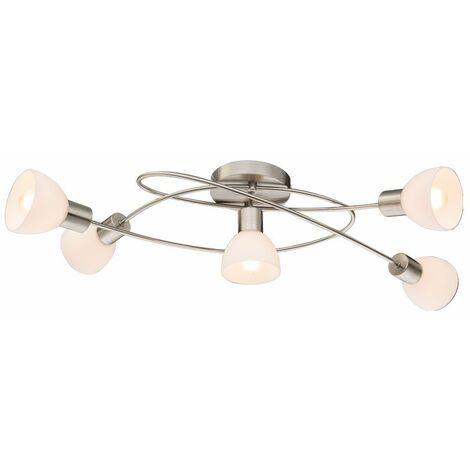 Plafón de diseño de plata de la sala de estar que ilumina la lámpara de punto de cristal en el conjunto, incluidas las bombillas LED