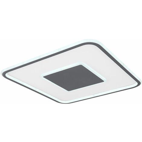 Plafón de luz diurna con mando a distancia Plafón de techo de luz diurna LED Plafón de luz diurna de techo, con función de memoria, 1x LED 46W 2700 -6000 Kelvin, L 55 cm
