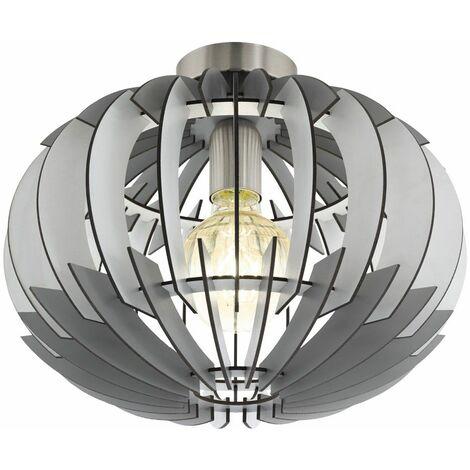 Plafón de madera Lamas REGULABLES para salón MANDO A DISTANCIA Juego de luces que incluyen lámparas LED RGB
