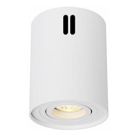Plafón de Superficie Basculante Circular Blanco para GU10 Blanco   IluminaShop