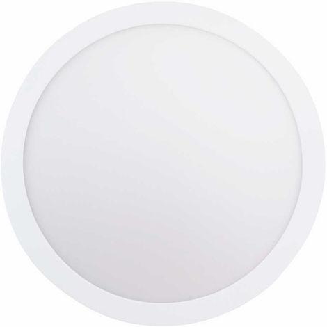 Plafón de superficie LED redondo, 24W, 120º, 2100 lúmenes, 4000K, blanco neutro, IP20. No regulable.