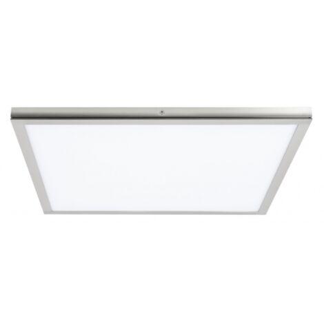 Plafon de superficie Tolstoi níquel satinado 36w luz fría 40x40 cm