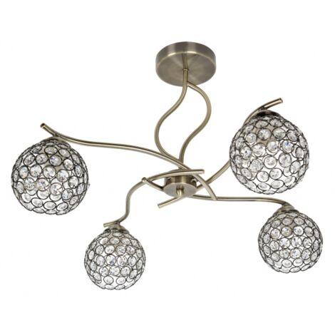 Plafón de techo Balbina (4 luces)