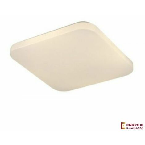 Plafón de techo cuadrado LED blanco Quattro II | 30x30 blanco 3000k